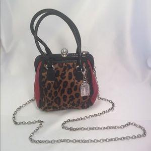 Brighton fashionista mini purse pursette leopard.